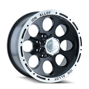 ION 174 BLACK/MACHINED LIP - rons-rims-inc