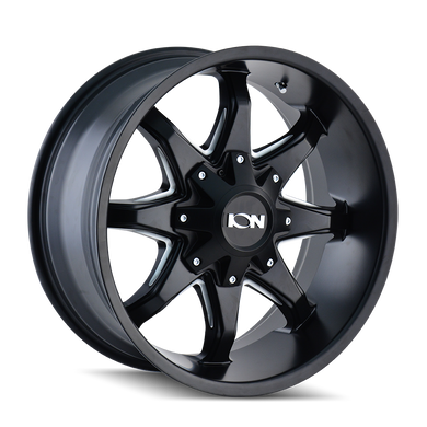 ION 181 SATIN BLACK/MILLED SPOKES - rons-rims-inc