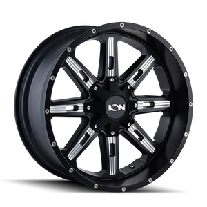 ION 184 SATIN BLACK/MILLED SPOKES - rons-rims-inc