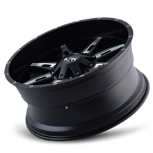 Load image into Gallery viewer, ION 184 SATIN BLACK/MILLED SPOKES - rons-rims-inc