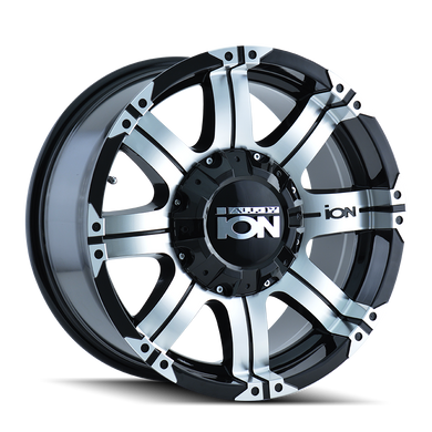 ION 187 BLACK/MACHINED FACE/MACHINED LIP - rons-rims-inc