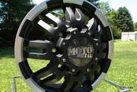 MOTO METAL MO963 DUALLY MATTE BLACK MACHINED DUALLY - FRONT - rons-rims-inc