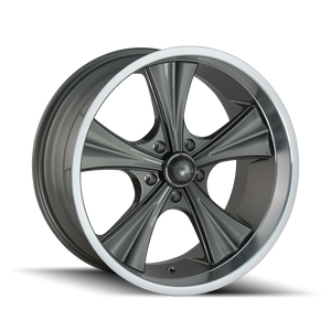 RIDLER 651 GREY/MACHINED LIP - rons-rims-inc