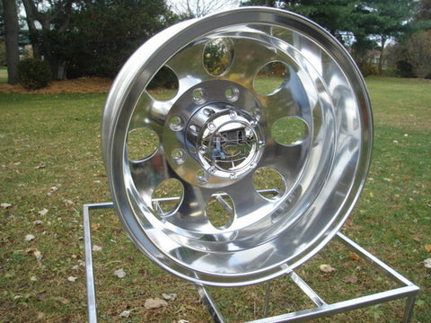 16 x 6 Dually Wheels - Polished (Alcoa style ) - CHEVY, GMC , Older FORD, Older DODGE - SET OF 4