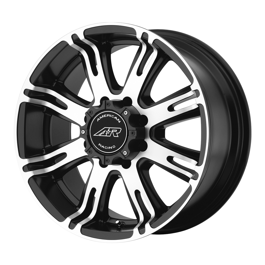 AMERICAN RACING AR708 MATTE BLACK MACHINED - rons-rims-inc