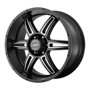 AMERICAN RACING AR890 SATIN BLACK MACHINED - rons-rims-inc