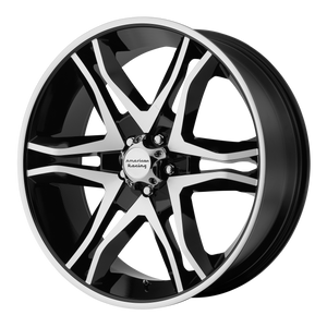 AMERICAN RACING MAINLINE GLOSS BLACK MACHINED - rons-rims-inc