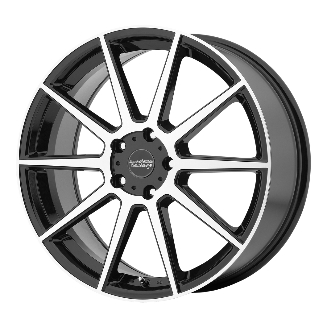 AMERICAN RACING AR908 GLOSS BLACK W/ MACHINED FACE - rons-rims-inc