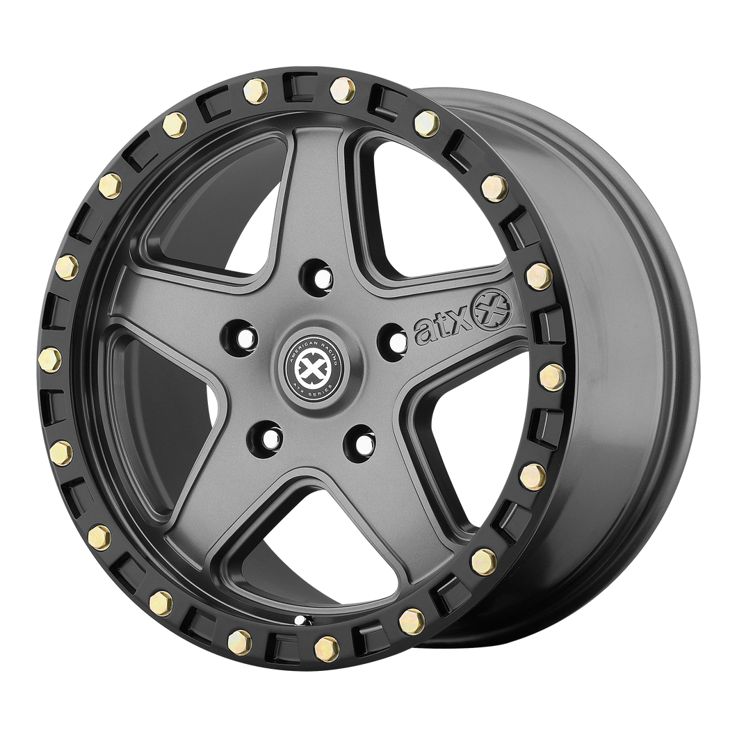 ATX SERIES RAVINE MATTE GRAY W/ BLACK RING - rons-rims-inc