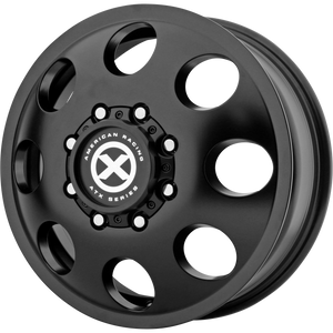 ATX SERIES BAJA DUALLY SATIN BLACK - FRONT - rons-rims-inc