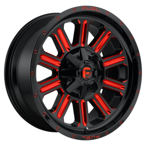 FUEL 1PC HARDLINE GLOSS BLACK RED TINTED CLEAR
