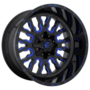 FUEL 1PC STROKE GLOSS BLACK BLUE TINTED CLEAR