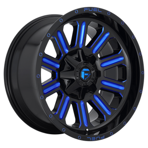 FUEL 1PC HARDLINE GLOSS BLACK BLUE TINTED CLEAR