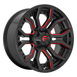 FUEL 1PC RAGE GLOSS BLACK RED TINTED CLEAR