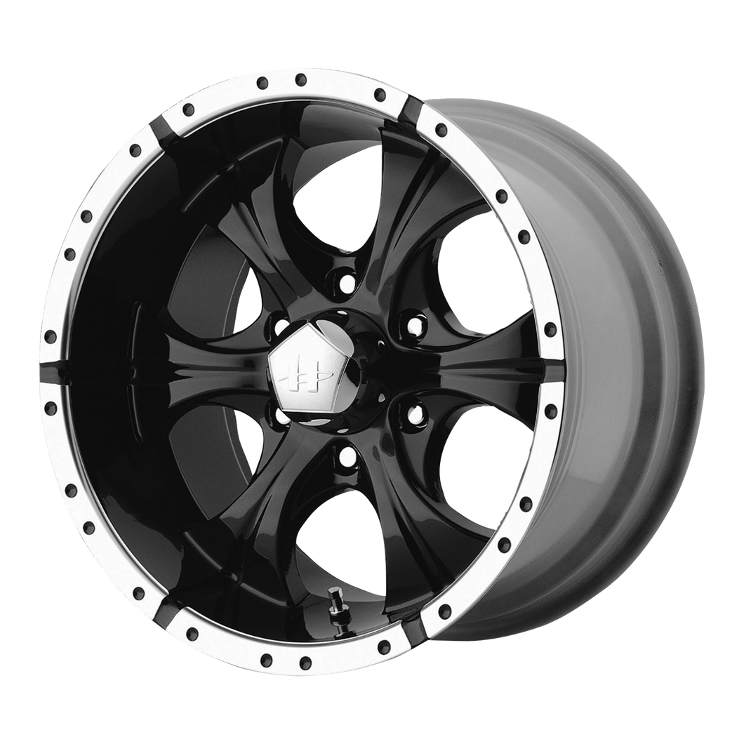 HELO MAXX GLOSS BLACK MACHINED - rons-rims-inc
