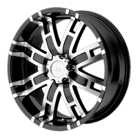 HELO HE835 GLOSS BLACK MACHINED - rons-rims-inc