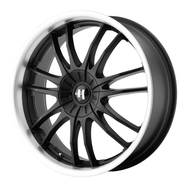 HELO HE845 GLOSS BLACK MACHINED - rons-rims-inc