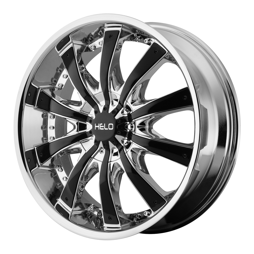 HELO HE875 CHROME W/ GLOSS BLACK ACCENTS - rons-rims-inc