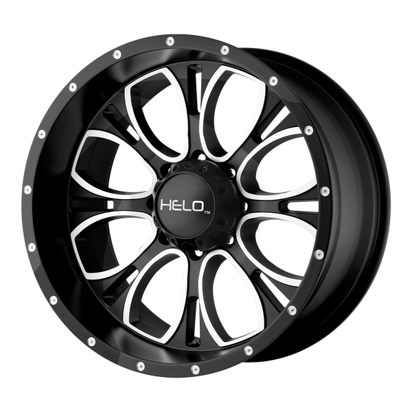 HELO HE879 GLOSS BLACK MACHINED & MILLED - rons-rims-inc
