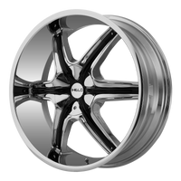HELO HE891 CHROME W/ GLOSS BLACK AND CHROME ACCENTS - rons-rims-inc