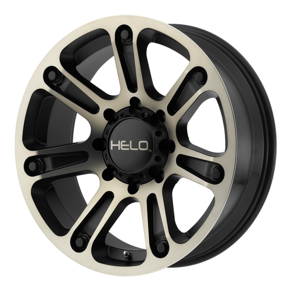 HELO HE904 SATIN BLACK MACHINED W/ DARK TINT - rons-rims-inc