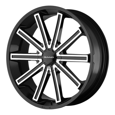 KMC NERVE GLOSS BLACK MACHINED - rons-rims-inc