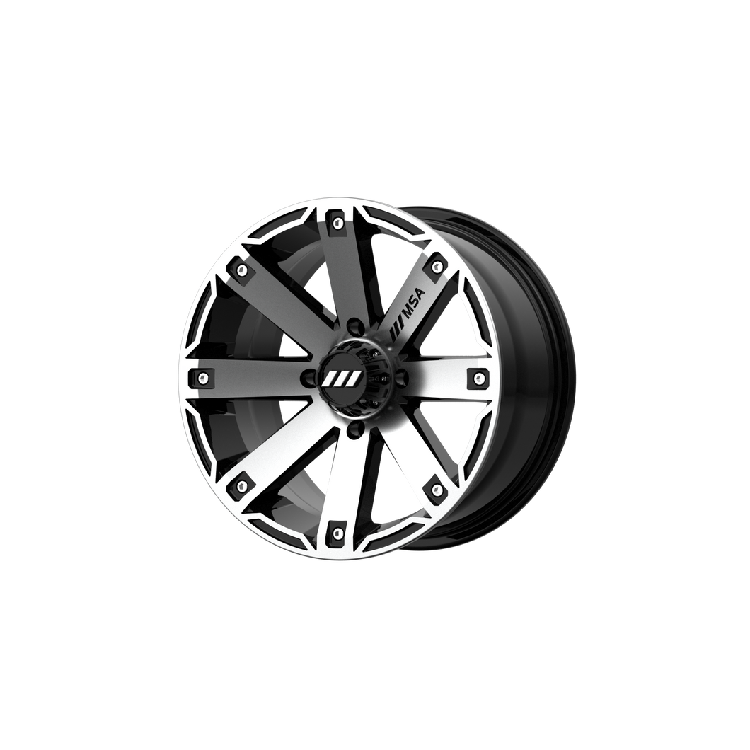 MSA OFFROAD WHEELS RAGE MACHINED GLOSS BLACK - rons-rims-inc