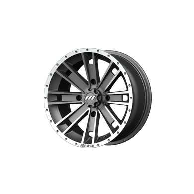 MSA OFFROAD WHEELS AMBUSH MACHINED GRAPHITE - rons-rims-inc