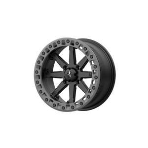 MSA OFFROAD WHEELS LOK2 SATIN BLACK W/ MATTE GRAY RING - rons-rims-inc