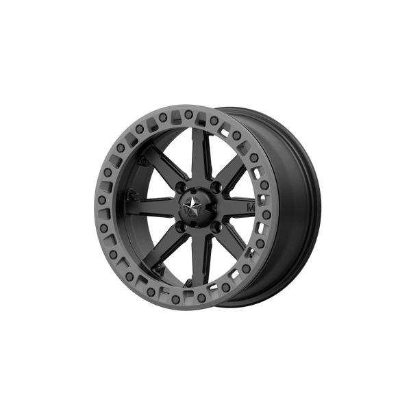 MSA OFFROAD WHEELS LOK2 SATIN BLACK W/ MATTE GRAY RING