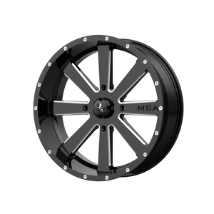 MSA OFFROAD WHEELS FLASH GLOSS BLACK MILLED - rons-rims-inc