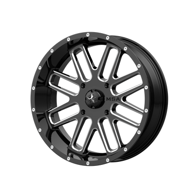 MSA OFFROAD WHEELS BANDIT GLOSS BLACK MILLED - rons-rims-inc