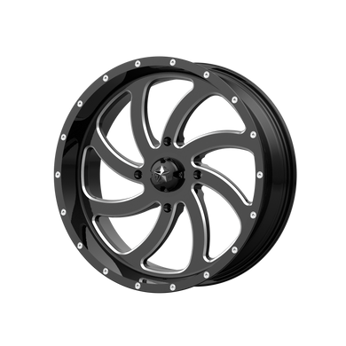 MSA OFFROAD WHEELS SWITCH GLOSS BLACK MILLED - rons-rims-inc