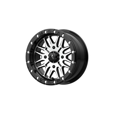 MSA OFFROAD WHEELS BRUTE BEADLOCK GLOSS BLACK MACHINED - rons-rims-inc