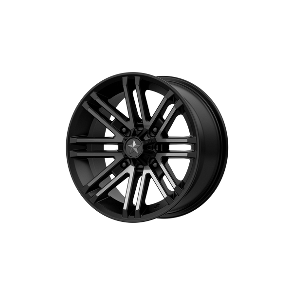 MSA OFFROAD WHEELS ROGUE SATIN BLACK W/ TITANIUM TINT - rons-rims-inc