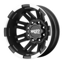 Load image into Gallery viewer, MOTO METAL MO963 DUALLY MATTE BLACK MACHINED DUALLY - REAR - rons-rims-inc