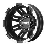 MOTO METAL MO963 DUALLY MATTE BLACK MACHINED DUALLY - REAR