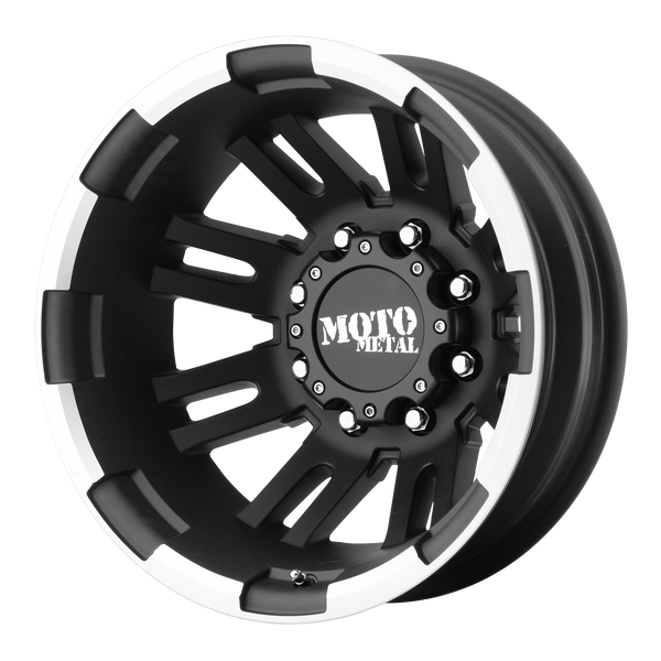 MOTO METAL MO963 DUALLY MATTE BLACK MACHINED DUALLY - REAR - rons-rims-inc