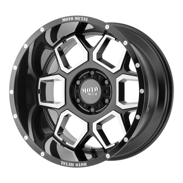 MOTO METAL SPADE GLOSS BLACK MACHINED - rons-rims-inc