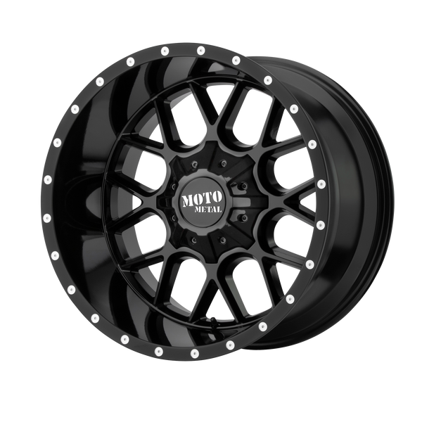 MOTO METAL SIEGE GLOSS BLACK - rons-rims-inc