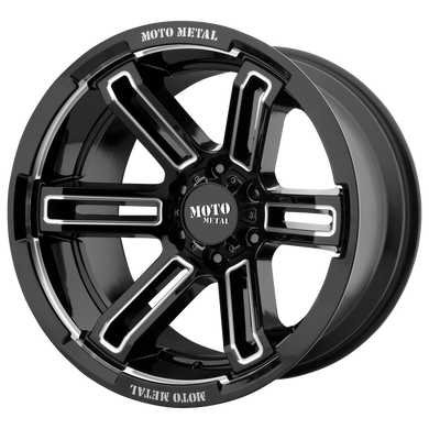 MOTO METAL RUKUS GLOSS BLACK MILLED - rons-rims-inc