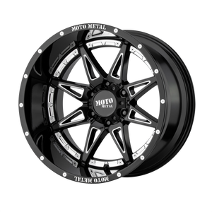 MOTO METAL HYDRA GLOSS BLACK MILLED - rons-rims-inc