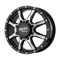 MOTO METAL MO995 GLOSS BLACK MACHINED - FRONT - rons-rims-inc