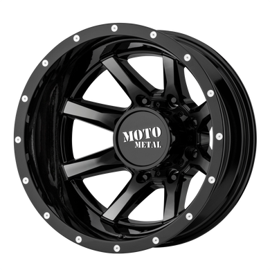MOTO METAL MO995 GLOSS BLACK MACHINED - REAR - rons-rims-inc