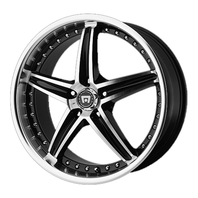 MOTEGI MR107 GLOSS BLACK MACHINED - rons-rims-inc