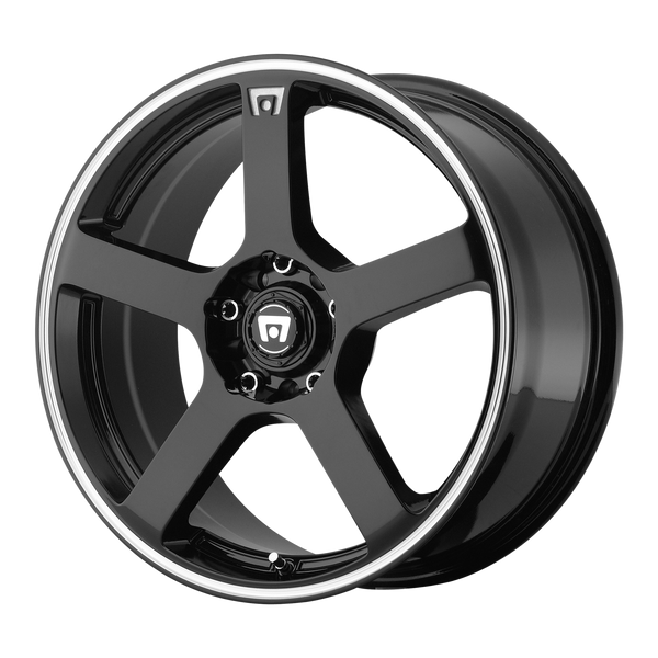 MOTEGI MR116 GLOSS BLACK W/ MACHINED FLANGE - rons-rims-inc