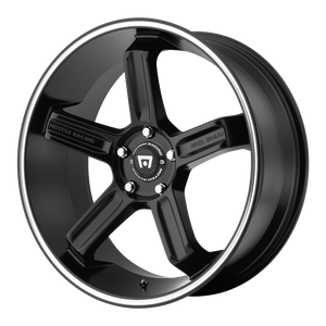 MOTEGI MR122 SATIN BLACK W/ MACHINED STRIPE - rons-rims-inc