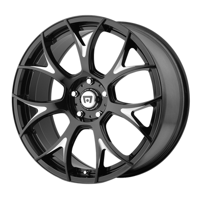 MOTEGI MR126 GLOSS BLACK W/ MILLED ACCENTS - rons-rims-inc