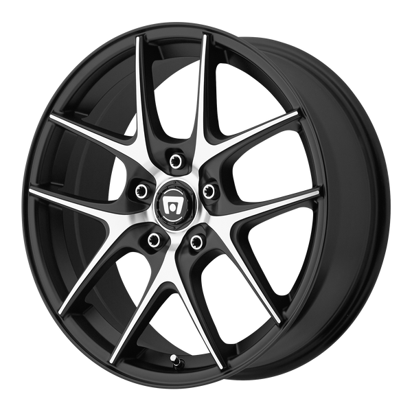MOTEGI MR128 SATIN BLACK W/ MACHINED FACE - rons-rims-inc