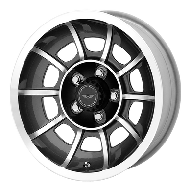 AMERICAN RACING VECTOR ANTHRACITE GRAY W/ MACHINED FACE - rons-rims-inc